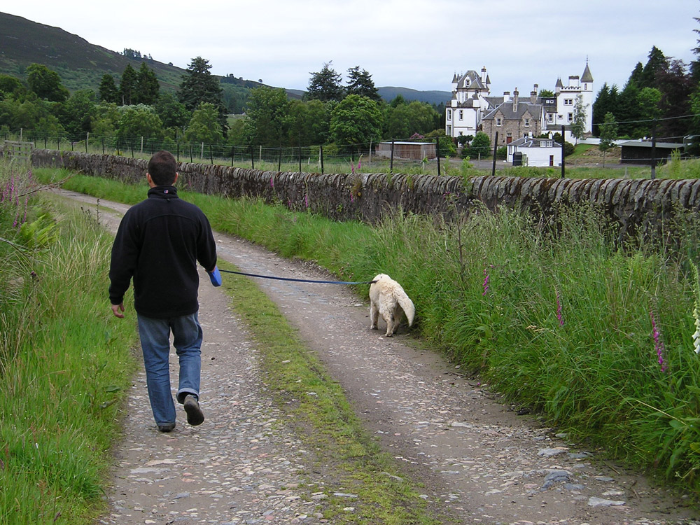 Walking the Cateran Trail at Dalnaglar Castle