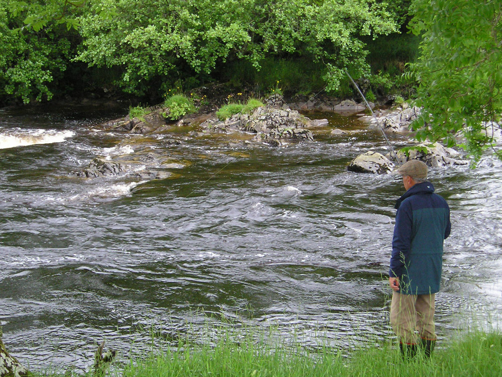 Salmon Fishing on the Blackwater, nr Dalnoid